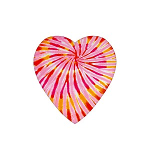 Heart Box, Tie-Dyed, 4 oz., QTY/CASE-48