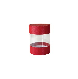 Clear Plastic Packaging, Pretzel Cylinder, 5th Ave. Red, Small, QTY/CASE-24
