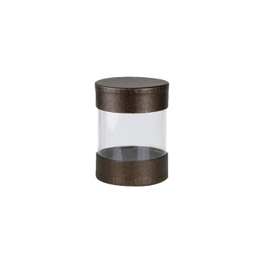 BY THE PIECE, Clear Plastic Packaging, Cylinder, Deco Bronze, Small