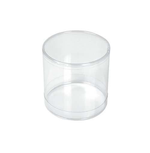 Clear Plastic Packaging, Cylinder, Clear, 3 x 3