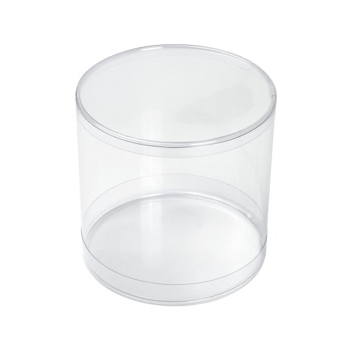 BY THE PIECE, Clear Plastic Packing, Cylinder, 3 1/2 x 3 1/2