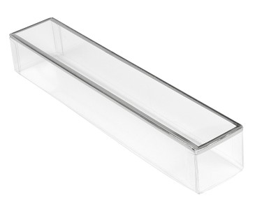 BY THE PIECE, Clear Plastic Packaging with Silver trim, Rectangle