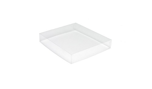 Clear Plastic Packaging, Acetate Lid, Square, Clear, 3 oz., QTY/CASE-50