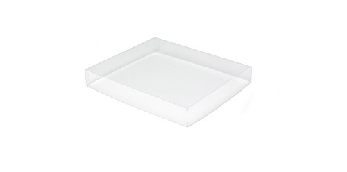 Clear Plastic Packaging, Acetate Lid, Rectangle, Clear, 4 oz., 4-1/2 x 3-3/4 x 1