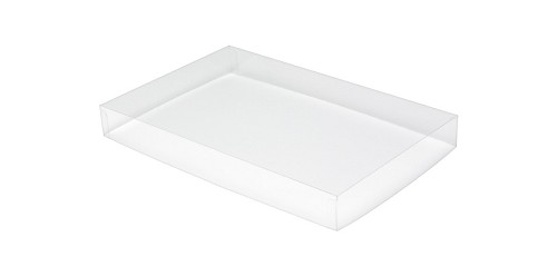 BY THE PIECE, Acetate Lid, Rectangle, Clear, 8 oz.