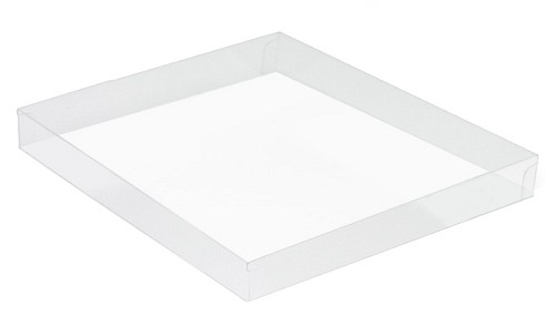 Clear Plastic Packaging, Acetate Lid, Square, Clear, 16 oz., 7-1/2 X 7-1/2 X 1