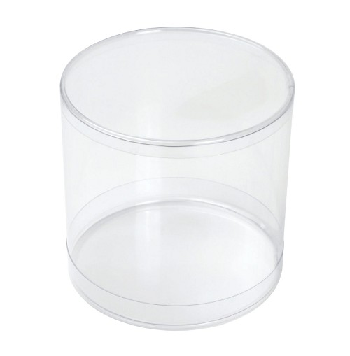 Clear Plastic Packaging, Cylinder, 4-1/8 x 4-1/8