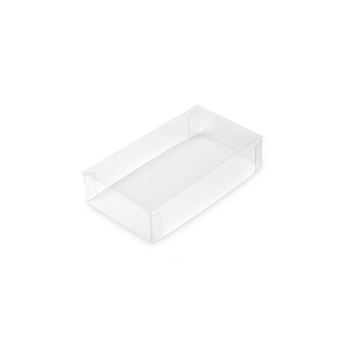 Clear Plastic Packaging, Acetate Lid, Rectangle, Clear, 2-Piece, 2-3/4 x 1-1/4 x 1