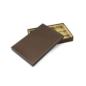 Rigid Set-up Box, Gift Box, Single-Layer, Rectangle, 8 oz., Deco Bronze, QTY/CASE-12