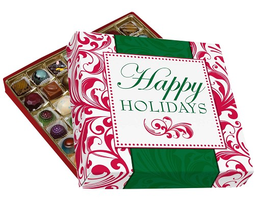BY THE PIECE, Happy Holidays, Decorative Gift Box, Gift-Sized, 11 x 11 x 1-1/2