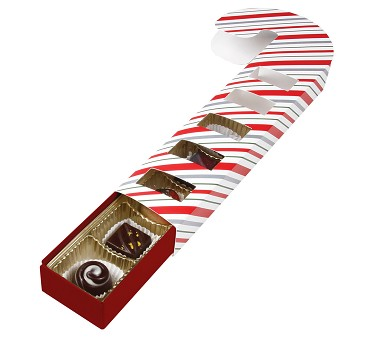 Slider Box, 5-Piece, Standard, Candy Cane with Window Film, 8-3/4 x 1-7/8 x 1-3/16""
