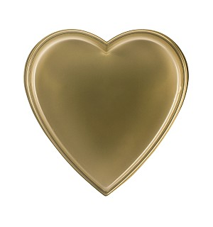 BY THE PIECE, Heart Tray, Plastic, Gold, 8 oz., Single Cavity