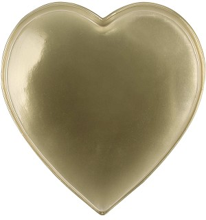 BY THE PIECE, Heart Tray, Plastic, Gold, 1 lb., Single Cavity