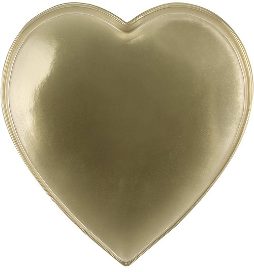 Heart Tray, Plastic, Gold, 1 lb., Single Cavity, 9-1/2 x 8-3/4 x 1