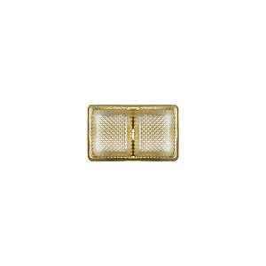 BY THE PIECE, Tray, Rectangle, Gold, 2 oz., 2 Cavity