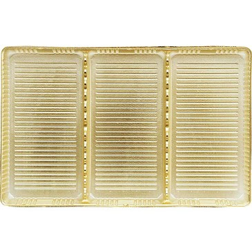 BY THE PIECE, Tray, Rectangle, Gold, 3 Cavity