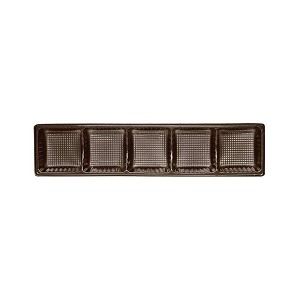 Tray, Standard, 5 Cavity, Rectangle, Brown, QTY/CASE-50