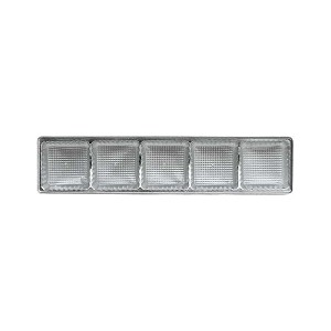 Tray, Standard, 5 Cavity, Rectangle, Silver, QTY/CASE-50