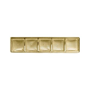 BY THE PIECE, Tray, Standard, 5 Cavity, Rectangle, Gold