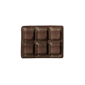 Tray, Rectangle, Brown, 4 oz., 6 Cavity, QTY/CASE-50