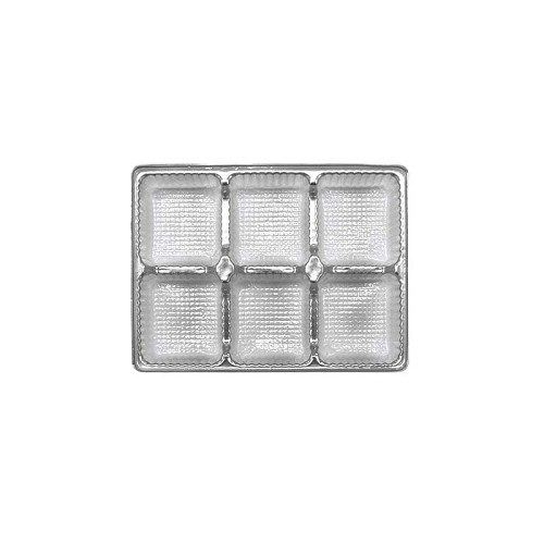 Tray, Rectangle, Silver, 4 oz., 6 Cavity, 4-1/2 x 3-1/4 x 1