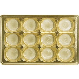 BY THE PIECE, Tray, Rectangle, Gold, 12 Cavity, Round Cavities