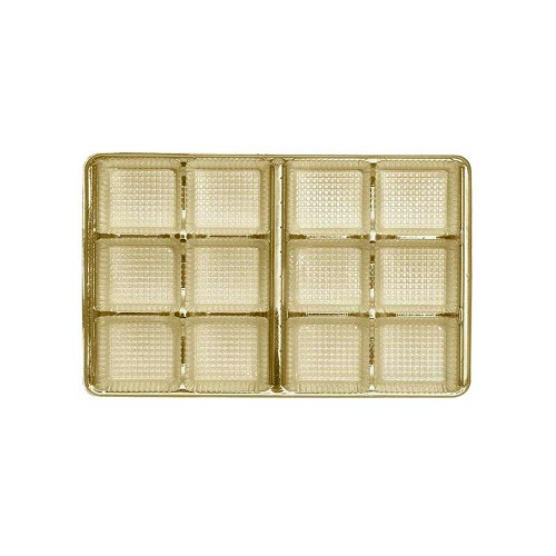 Tray, Rectangle, Gold, 8 oz., 12 Cavity, 7 x 4-1/2 x 1