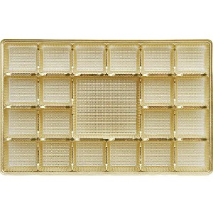 Tray, Rectangle, Gold, 16 oz., 21 Cavity, QTY/CASE-50