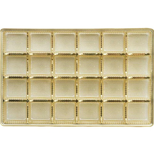 Tray, Rectangle, Gold, 16 oz., 24 Cavity, 9-1/2 x 6 x 1