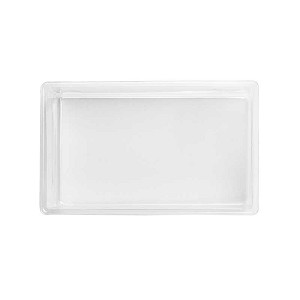 Tray, Rectangle, Clear, Double-Layer, 8 oz., Single Cavity, QTY/CASE-50
