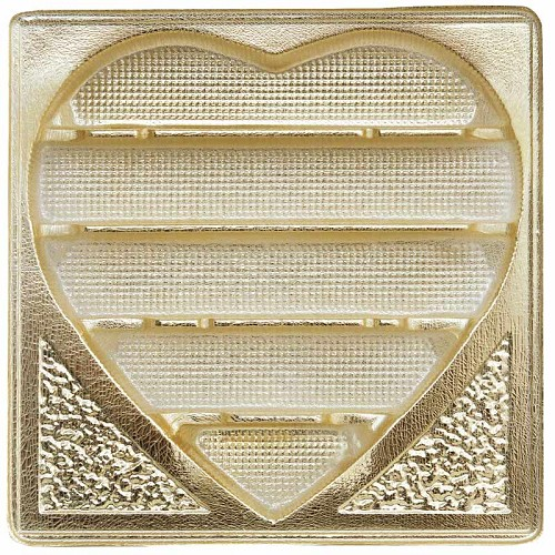 BY THE PIECE, Tray, Square, Heart, Gold, 5 Cavity, 1 lb., 7-1/2 x 7-1/2 x 1