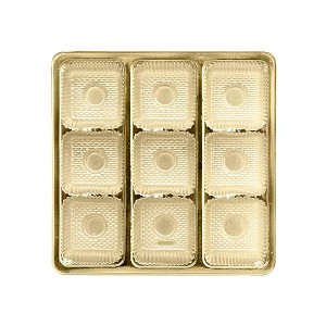 Tray, Square, Gold, 8 oz., 9 Cavity, QTY/CASE-50