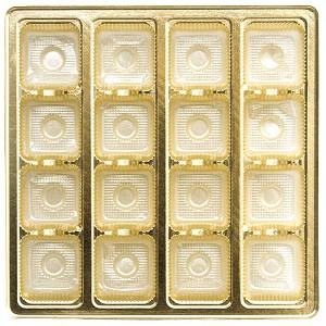 Tray, Square, Gold, 16 oz., 16 Cavity, QTY/CASE-50