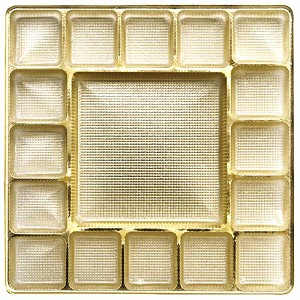Tray, Square, Gold, 16 oz., 17 Cavity, QTY/CASE-50