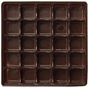BY THE PIECE, Tray, Square, Brown, 25 Cavity