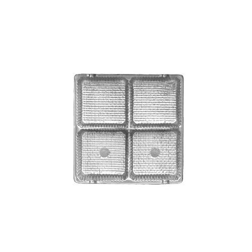 Tray, Square, Silver, 3 oz., 4 Cavity, 3-1/2 x 3-1/2 x 1