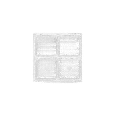 Tray, Square, Clear, 3 oz., 4 Cavity, QTY/CASE-50
