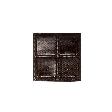 BY THE PIECE, Tray, 3 oz. Square, Brown, 4 Cavity