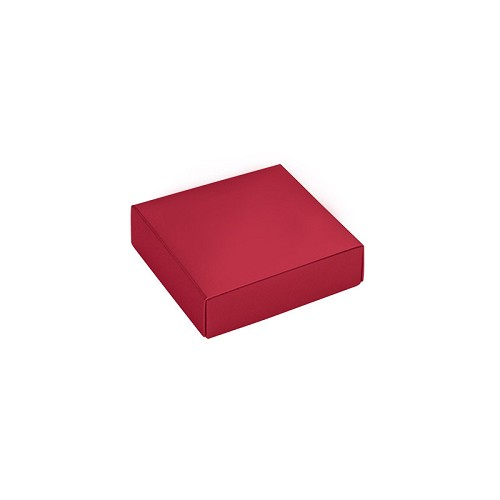 This Top - That Bottom, Lid, Square, Red, 3-1/2 x 3-1/2 x 1