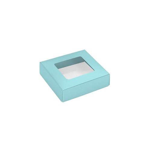 This Top - That Bottom, Window Lid, Square, Robin Egg Blue, 3-1/2 x 3-1/2 x 1
