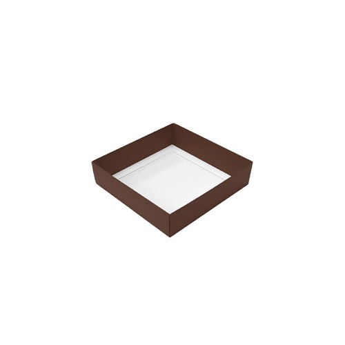 This Top - That Bottom, Base, Brown, Single-Layer, 3-1/2 x 3-1/2 x 1