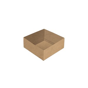 BY THE PIECE, Folding Carton, Base, 3 oz., Petite, Square, Kraft, Double-Layer