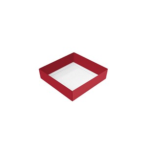BY THE PIECE, Folding Carton, Base, 3 oz., Petite, Square, Red, Single-Layer