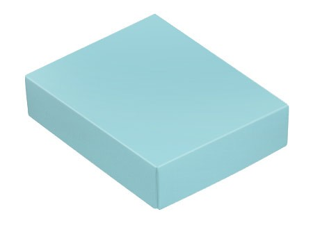 This Top - That Bottom, Lid, Rectangle, Robin Egg Blue, 4-1/2 x 3-3/4 x 1